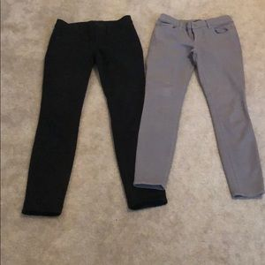 Black and grey Ann Taylor skinny jeans